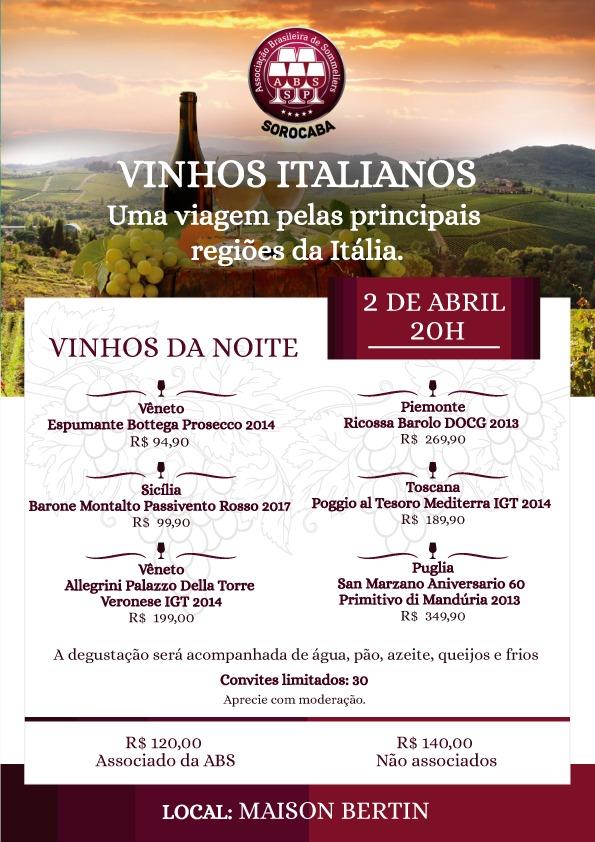 Vinhos Italianos: uma viagem pelas principais regiões da Itália